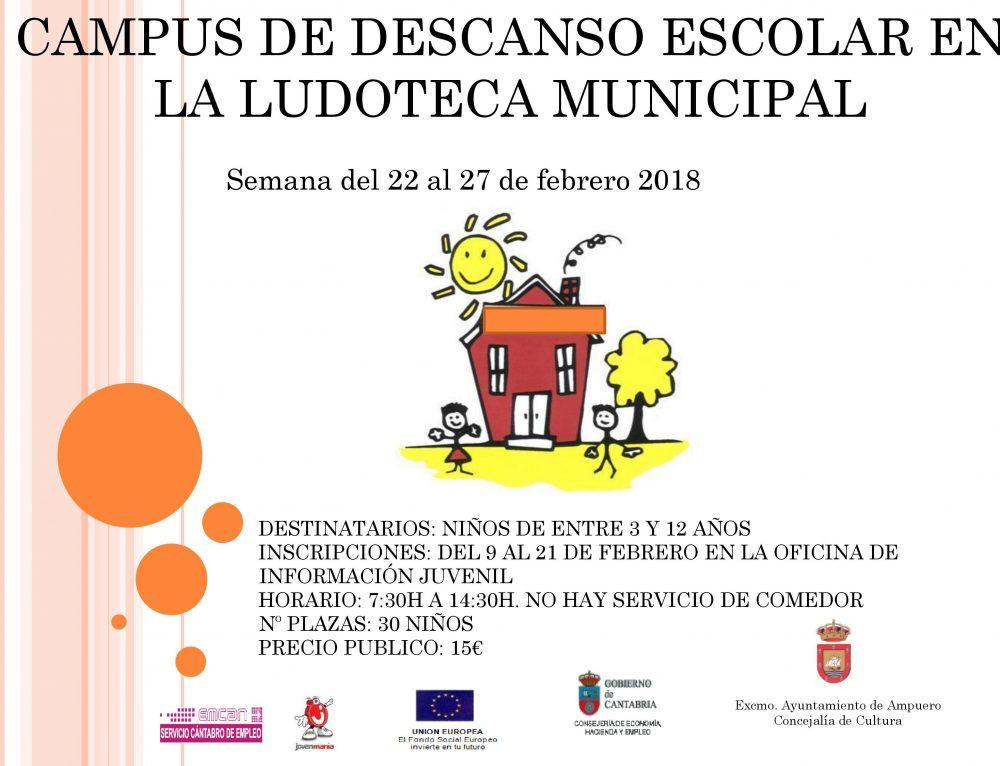 Campus de Descanso Escolar en Febrero en la Ludoteca