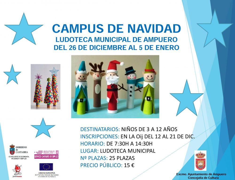 Campus de Navidad en la Ludoteca de Ampuero