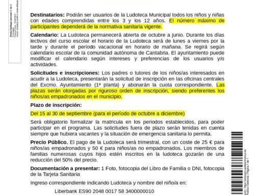 LUDOTECA MUNICIPAL 2021/22