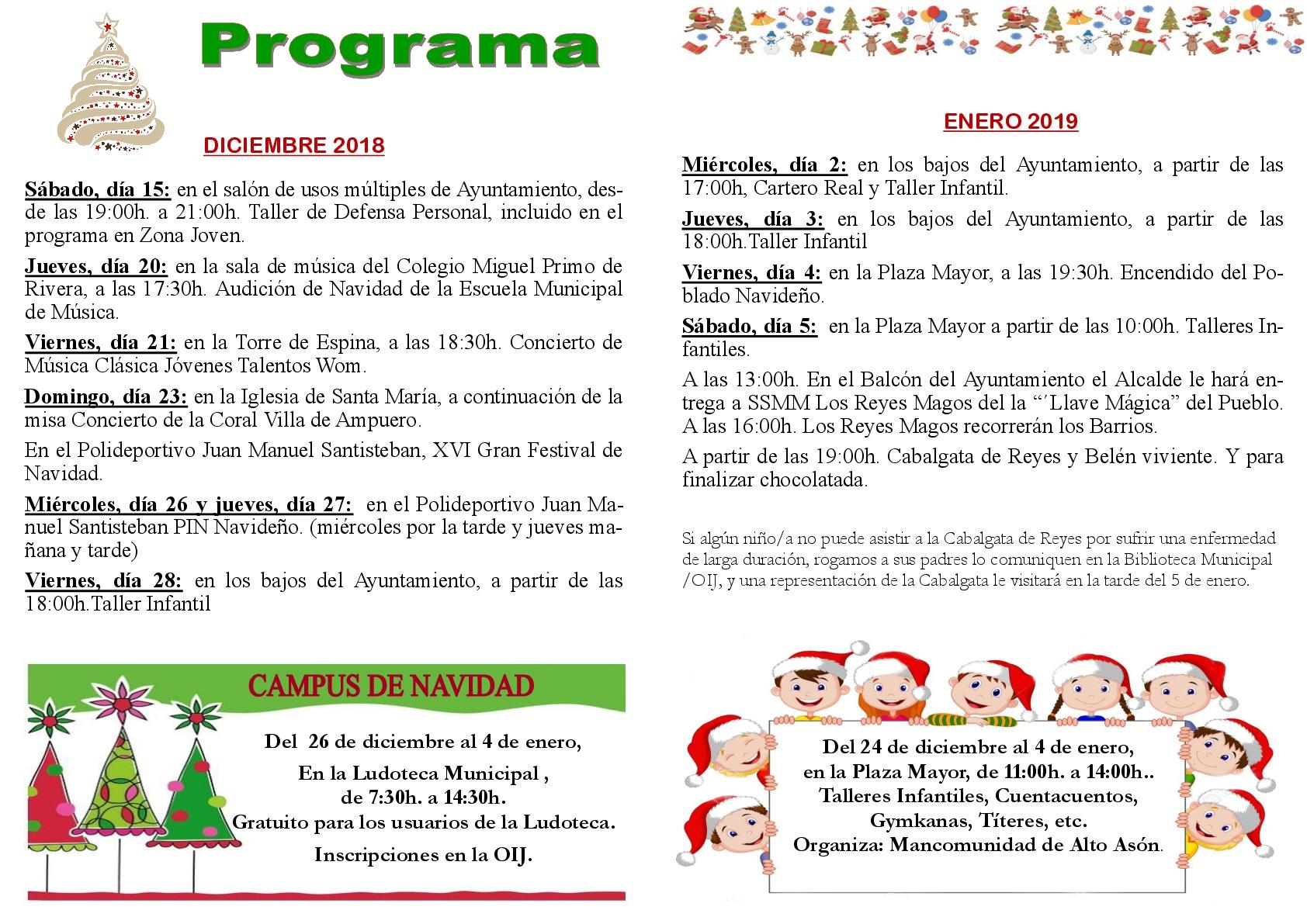 Programa de Navidad 2018/19