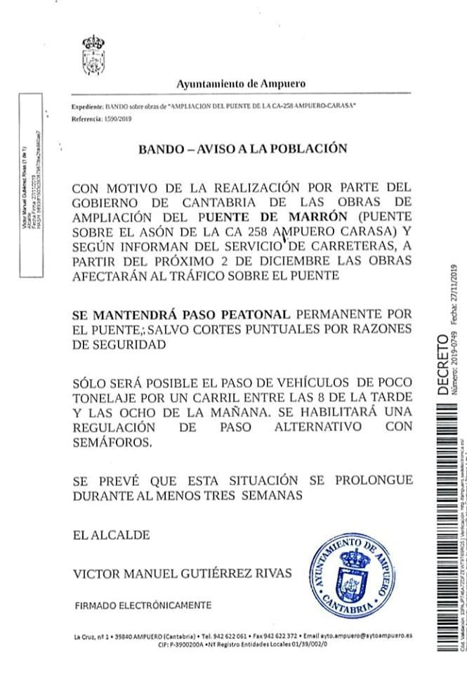 BANDO AVISO OBRAS