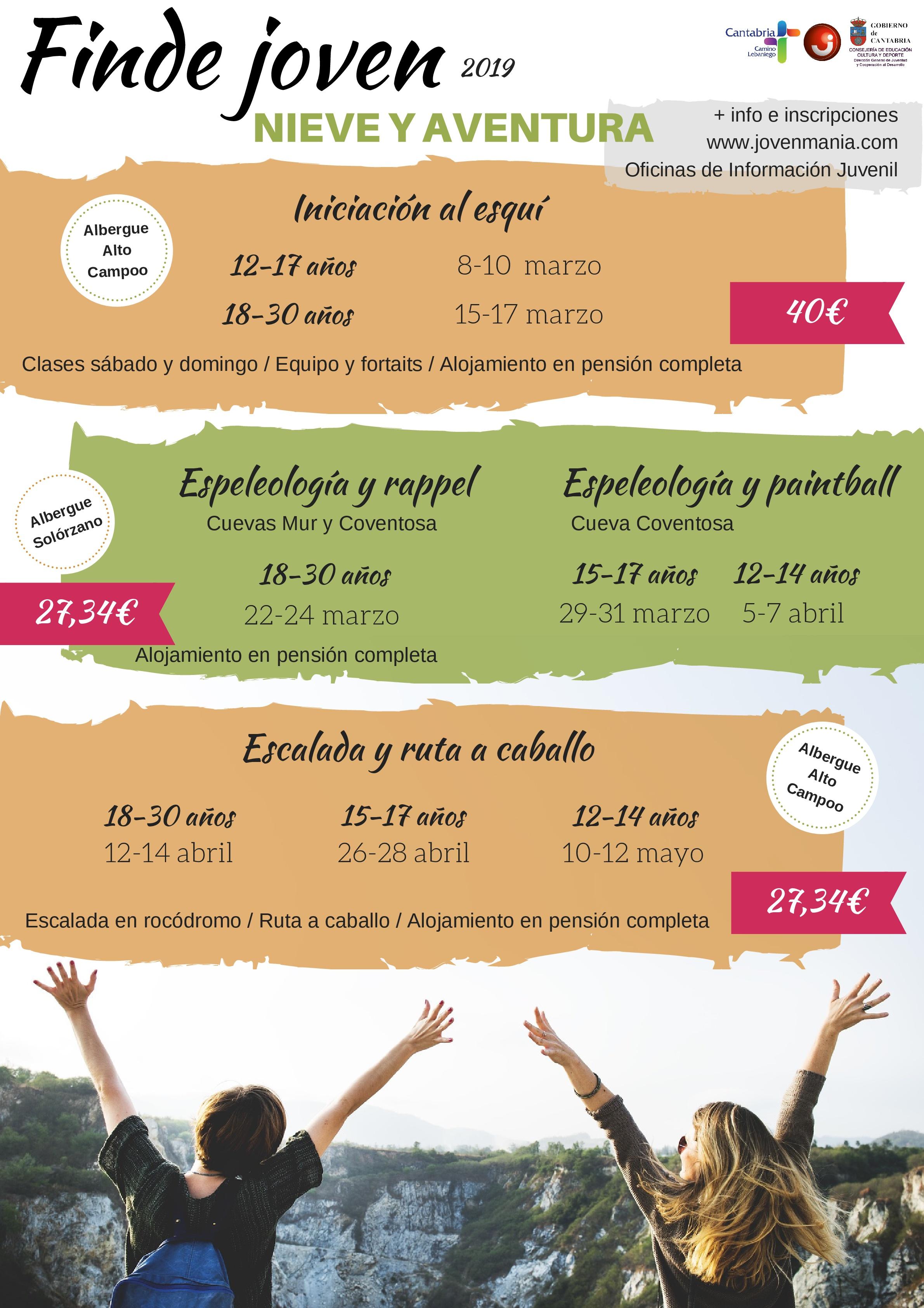 ESQUI, ESPELEOLOGIA, RAPPEL Y MAS EN LA NUEVA EDICION DE FindeJoven