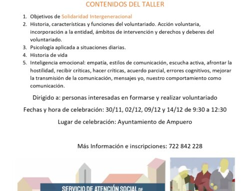 TALLER DE VOLUNTARIADO