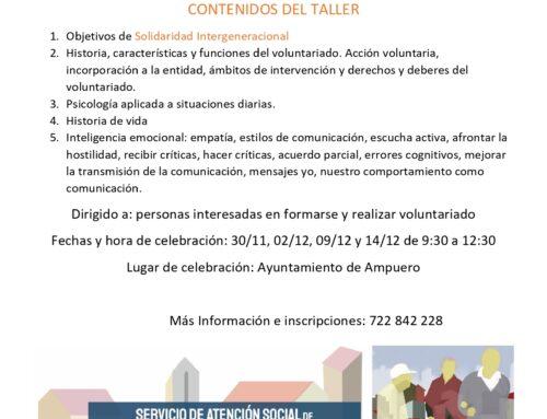 TALLER DE VOLUNTARIADO