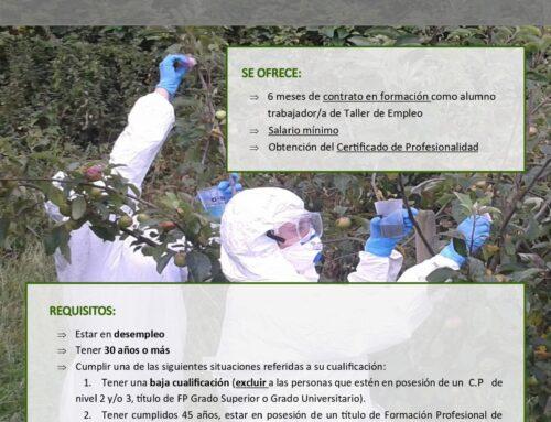 """Taller de Empleo """"SERVICIOS PARA EL CONTROL DE PLAGAS II"""", promovido por la Mancomunidad de Municipios Sostenibles de Cantabria"""