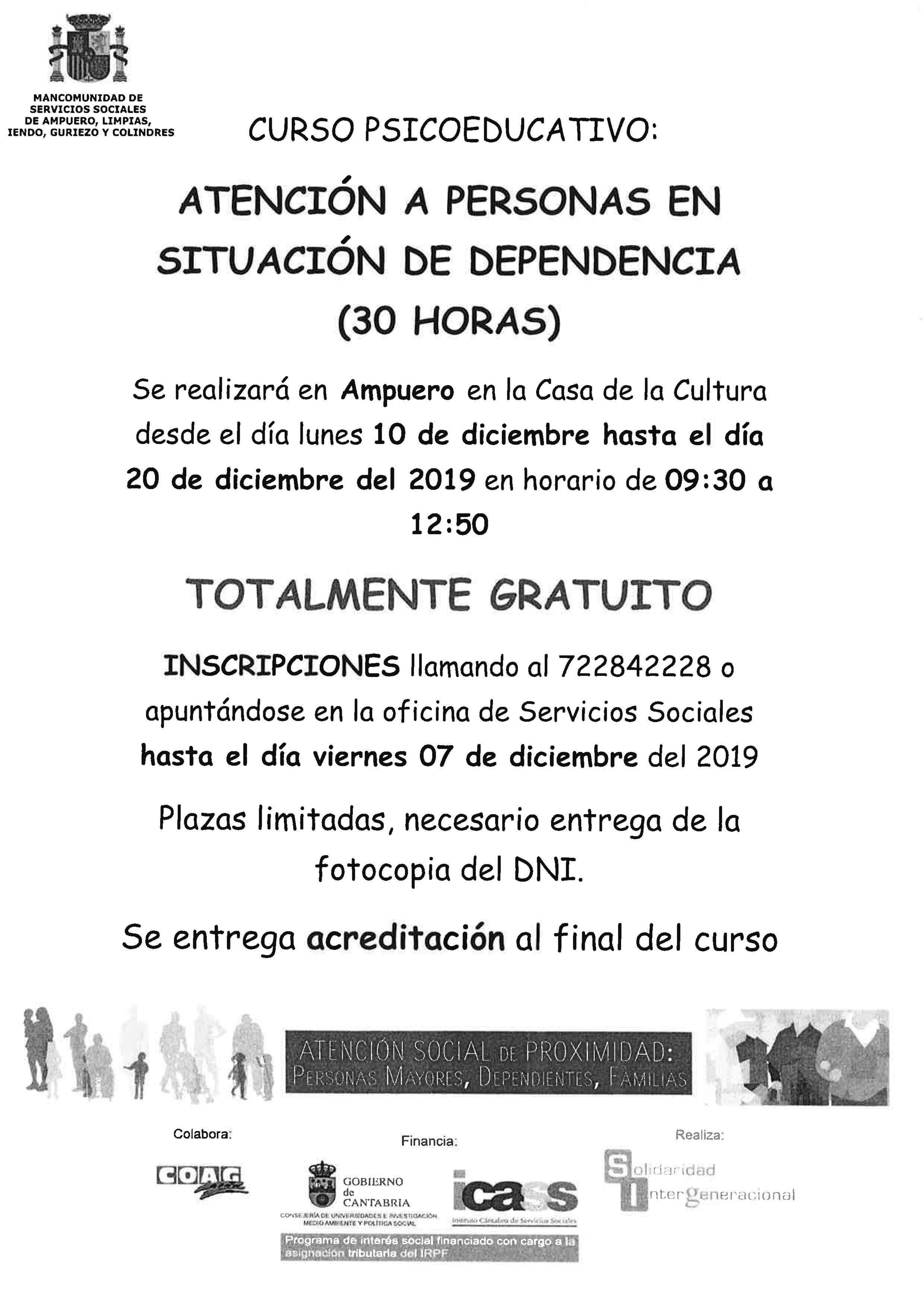 CURSO PSICOEDUCATIVO EN LA CASA DE CULTURA