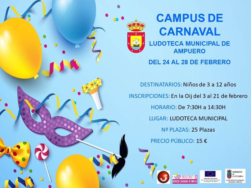 CAMPUS DE CARNAVAL EN LA LUDOTECA MUNICIPAL