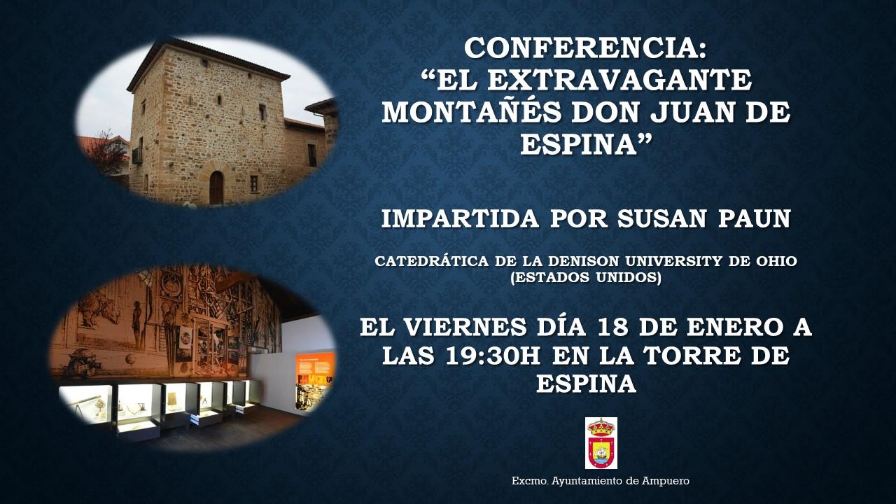 """Conferencia:  """"El extravagante montañés don Juan de Espina"""""""