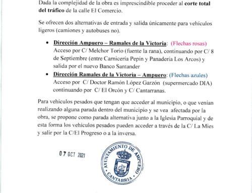 AVISO OBRAS CALLE EL COMERCIO