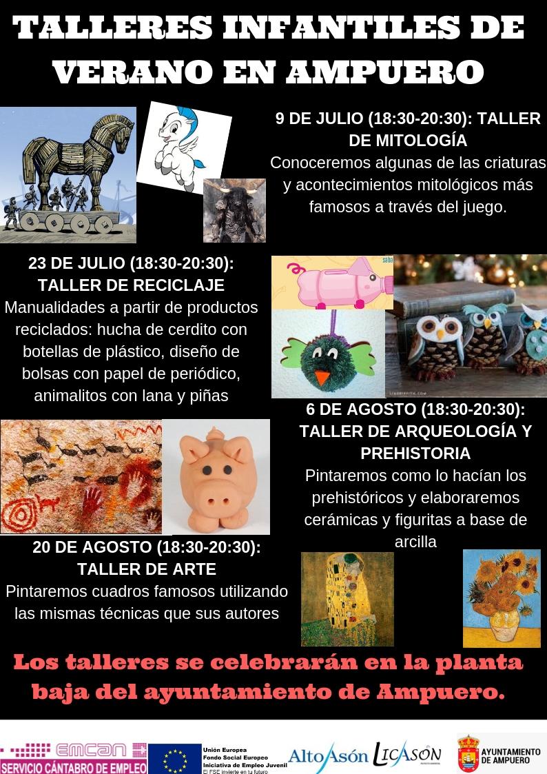 TALLERES INFANTILES DE VERANO