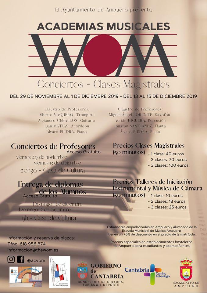 CONCIERTOS Y CLASES MAGISTRALES EN LA CASA DE CULTURA